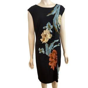 FRANK LYMAN DESIGN Black Sheath Dress NWT 14 16